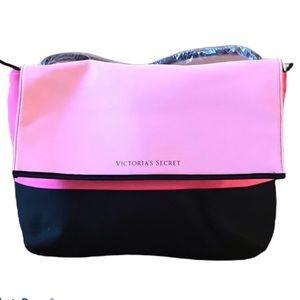 Victoria secret pink/ black zipped shoulder bag